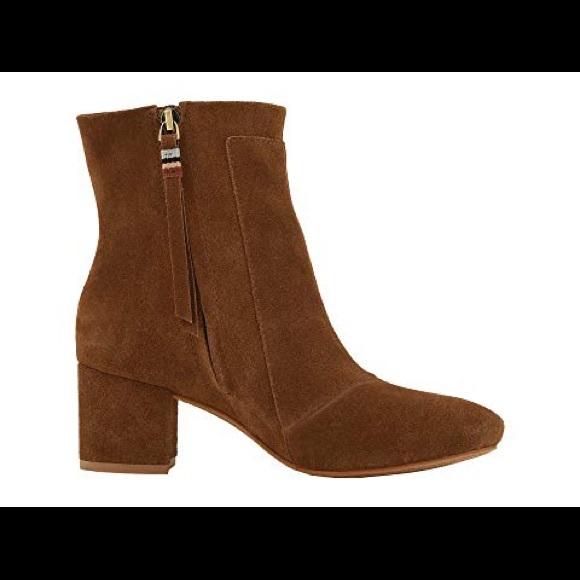 f2583e7cea7 Toms Evie Suede Heeled Boots